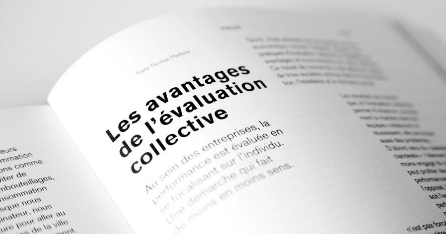 Les avantages de l'évaluation collective // www.revuehemispheres.com